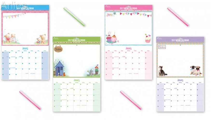 Wipe Clean Memo Calendars