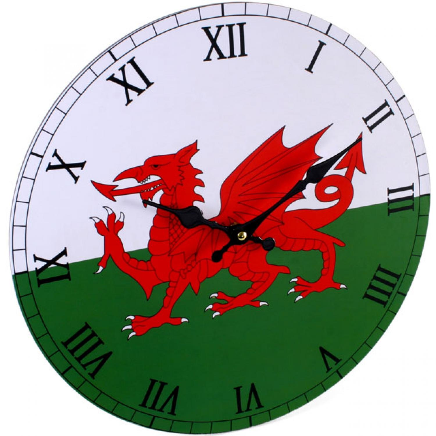 Large Welsh Wall Clock