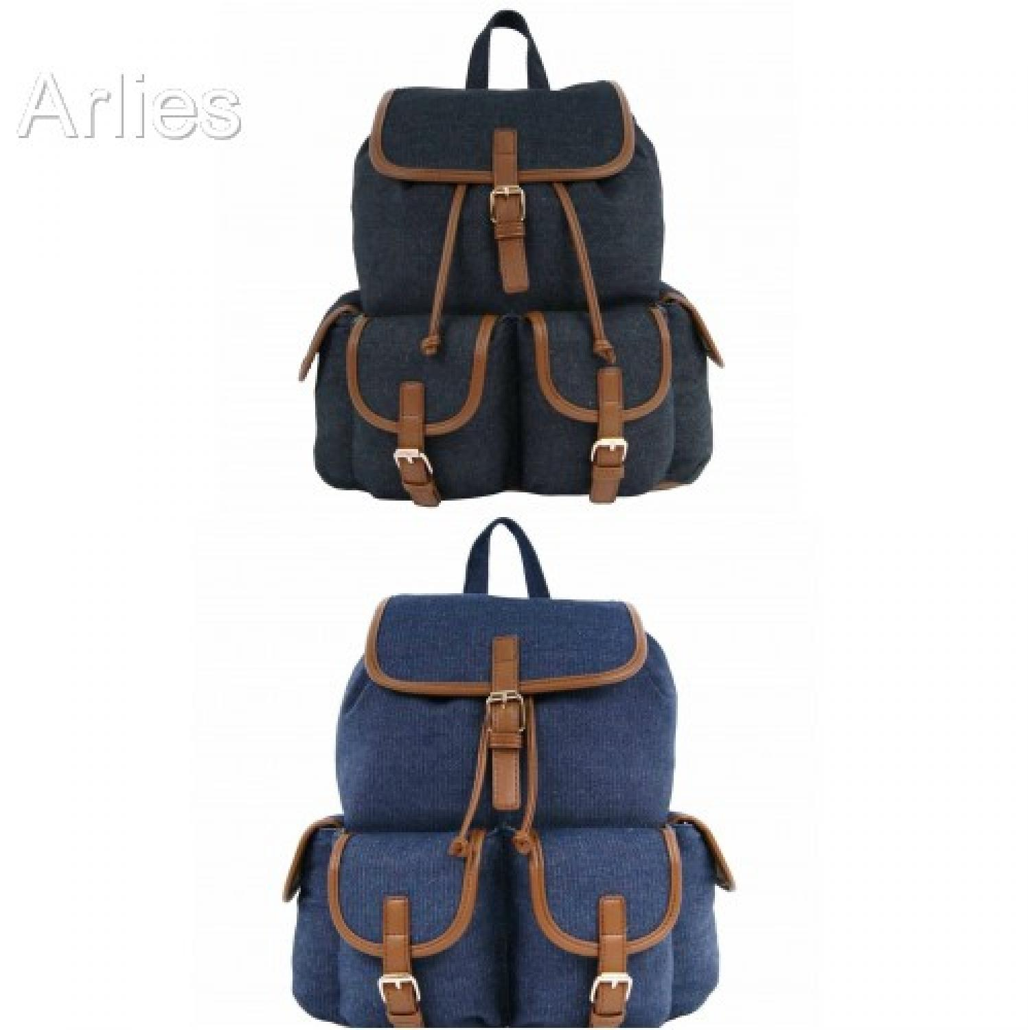 Denim Double Pocket Backpack/Rucksack