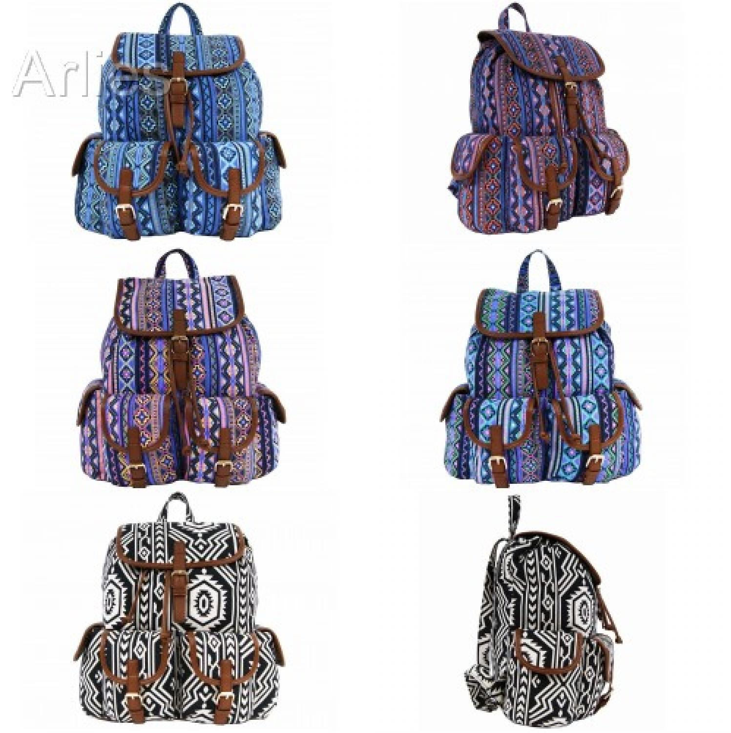 Aztec Double Pocket Backpack/Rucksack