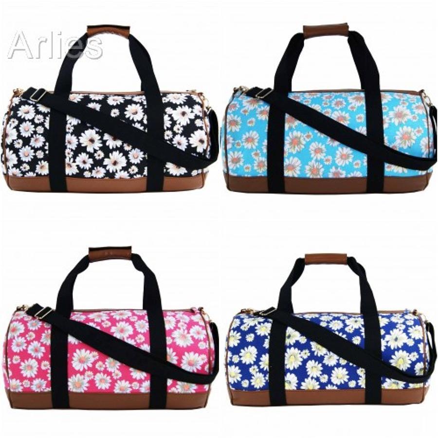 Daisy Flower Canvas Duffel Bag/Holdall
