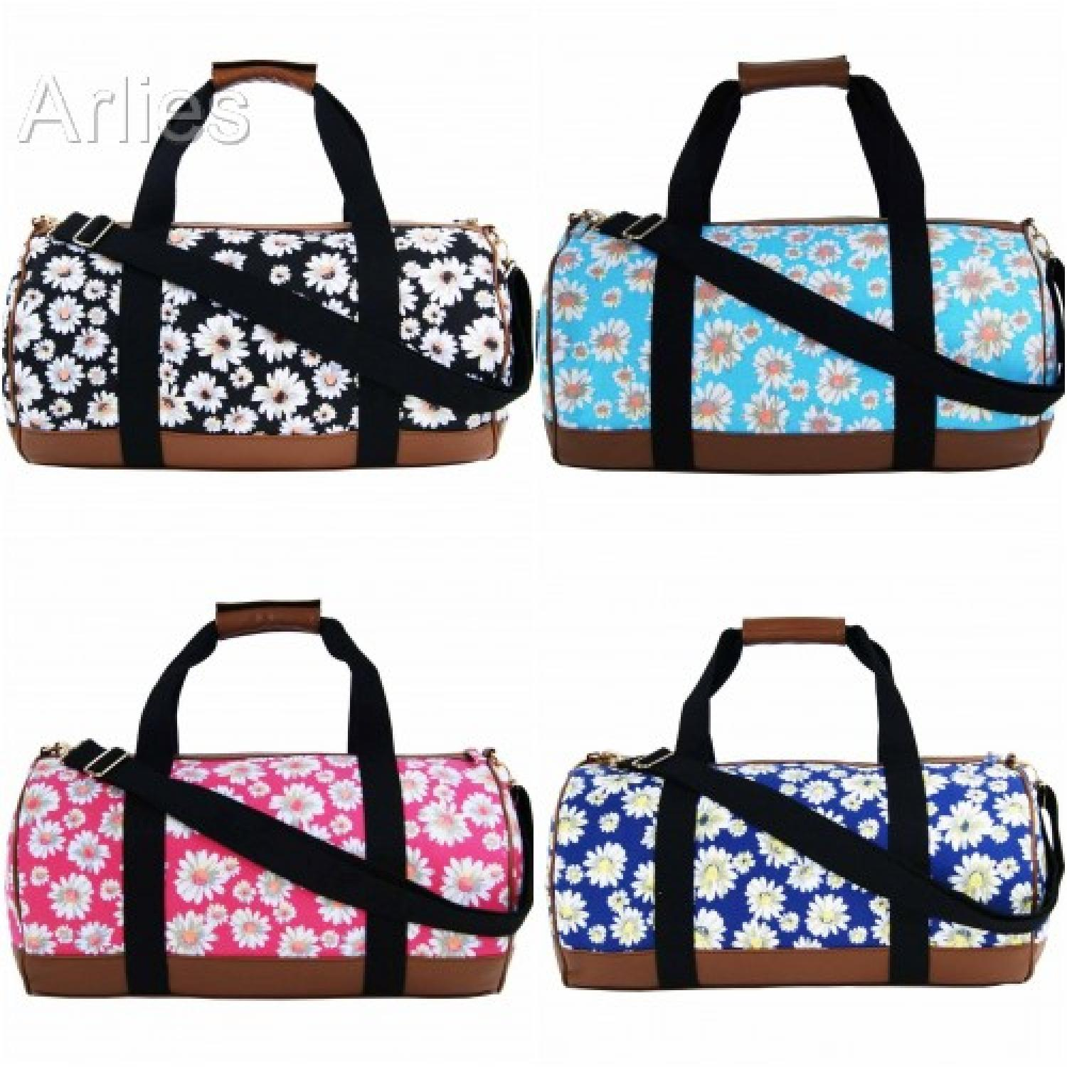 Daisy Flower Canvas Duffel Bag/Holdall
