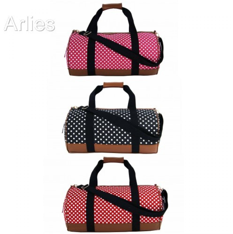 Polka Dot Canvas Duffel Bag/Holdall