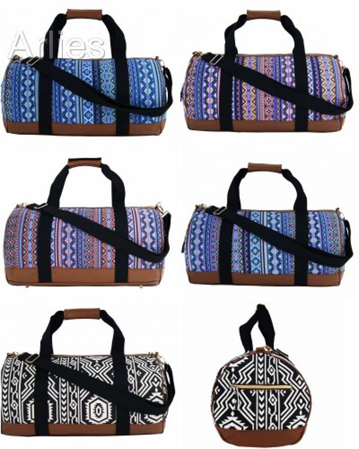 Aztec Canvas Duffel Bag/Holdall