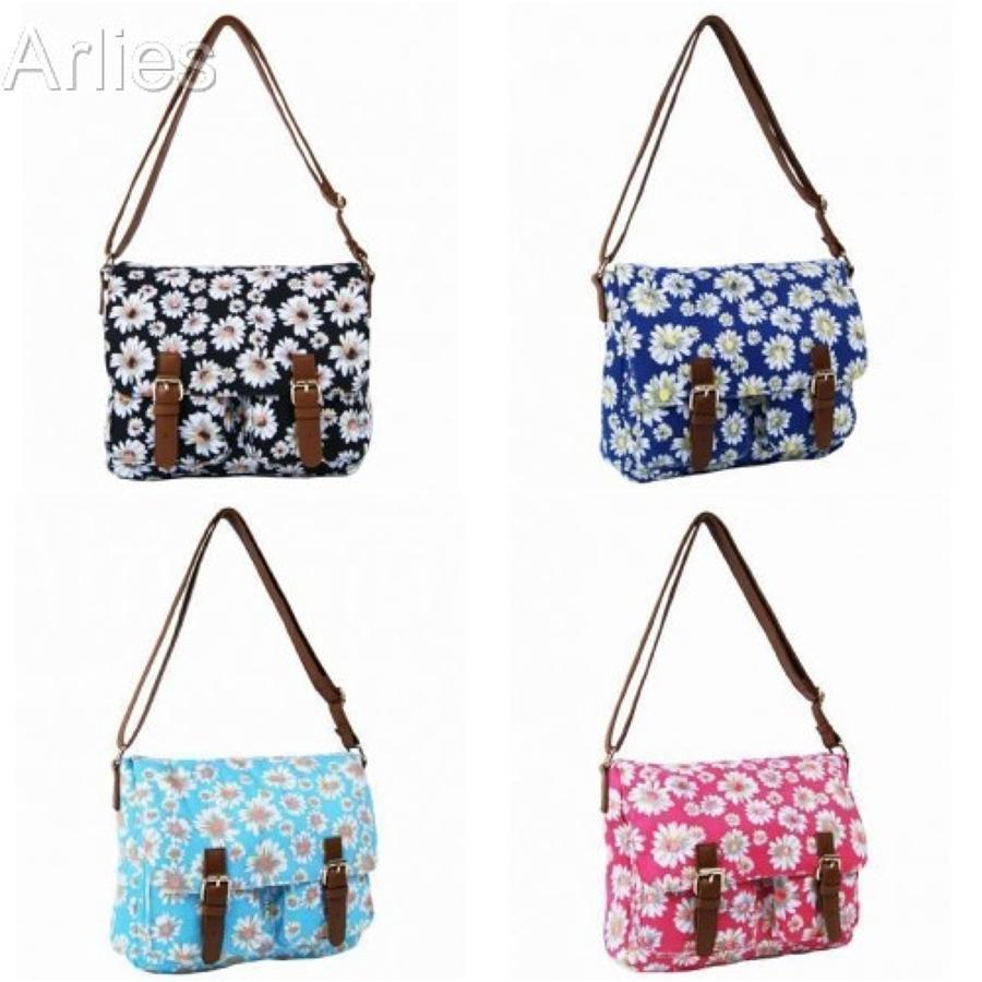 Daisy Flower Messenger Bags