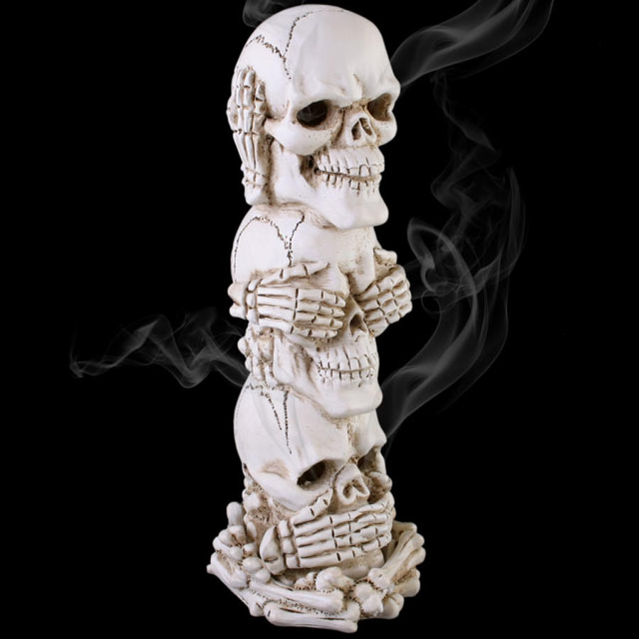 See, Hear, Speak No Evil Skeleton Skull