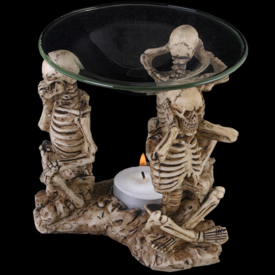 See, Hear & Speak No Evil Skeleton