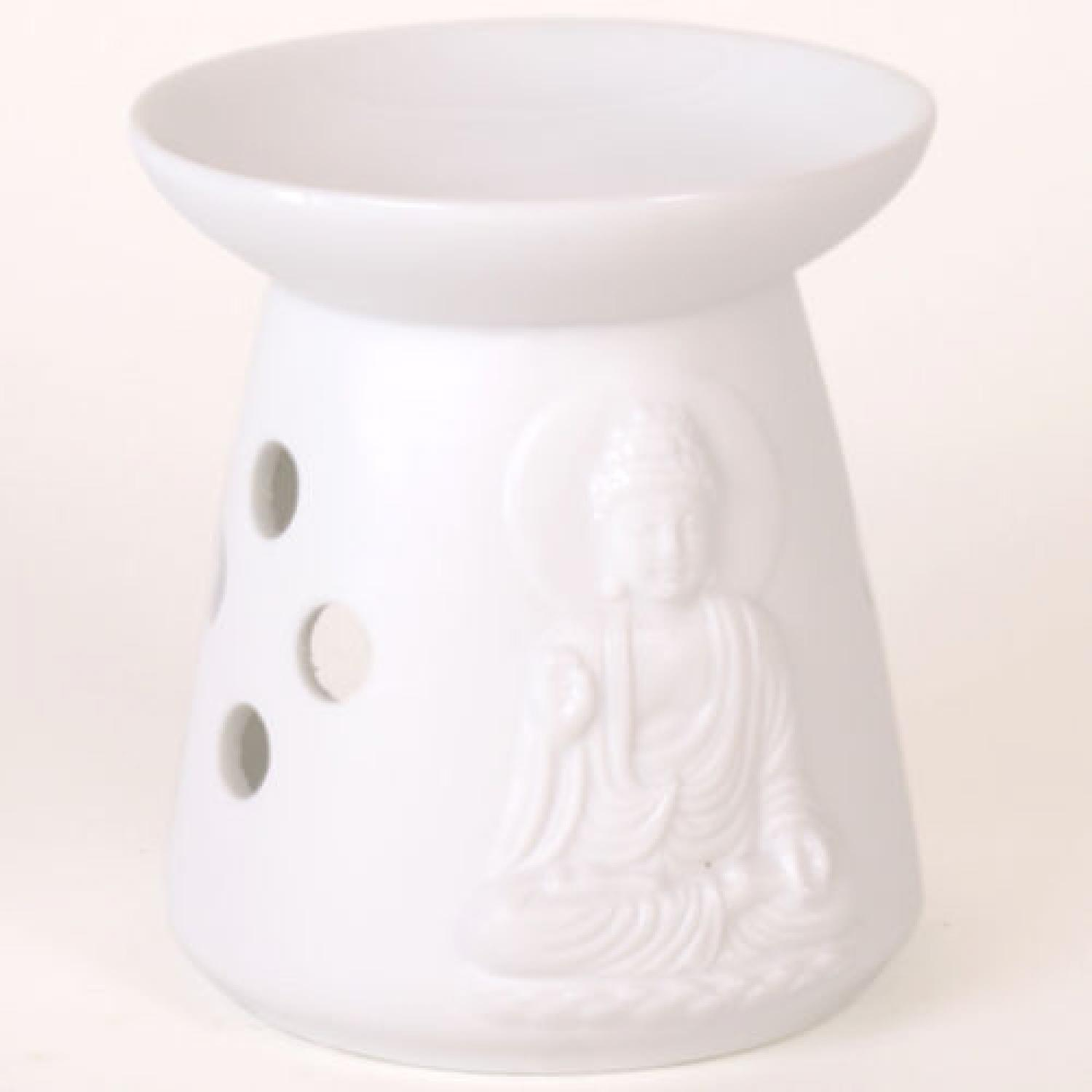 Ceramic White Thai Buddha Oil Burner