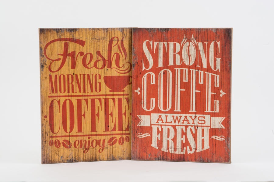 Vintage Wooden Coffee Sign