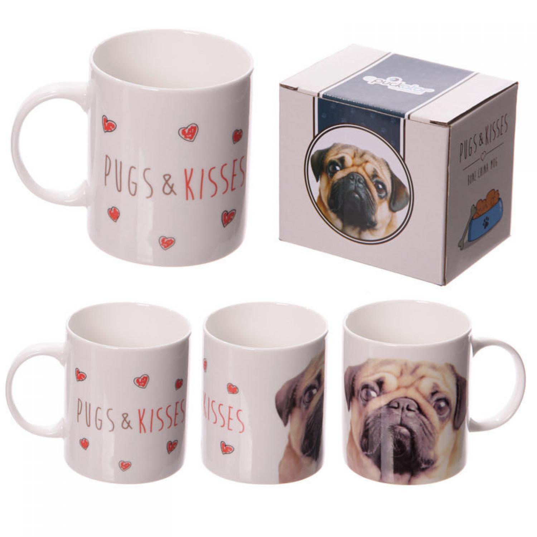 Pugs & Kisses China Mug