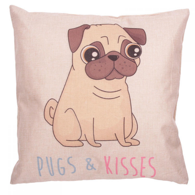 Pugs & Kisses Cushion