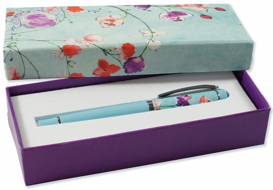Fuschia Blooms Rollerball Pens