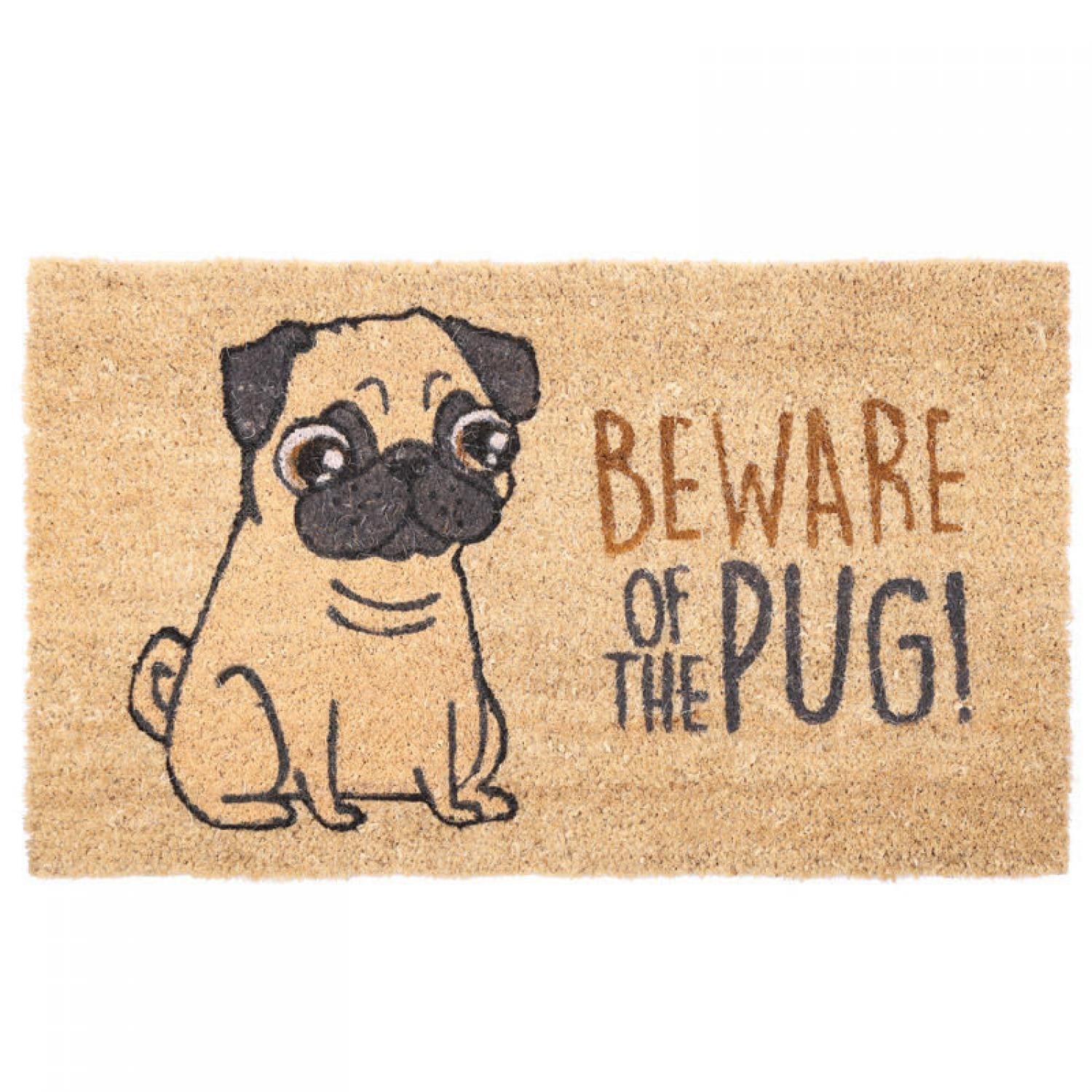 Beware of the Pug Coir Mat