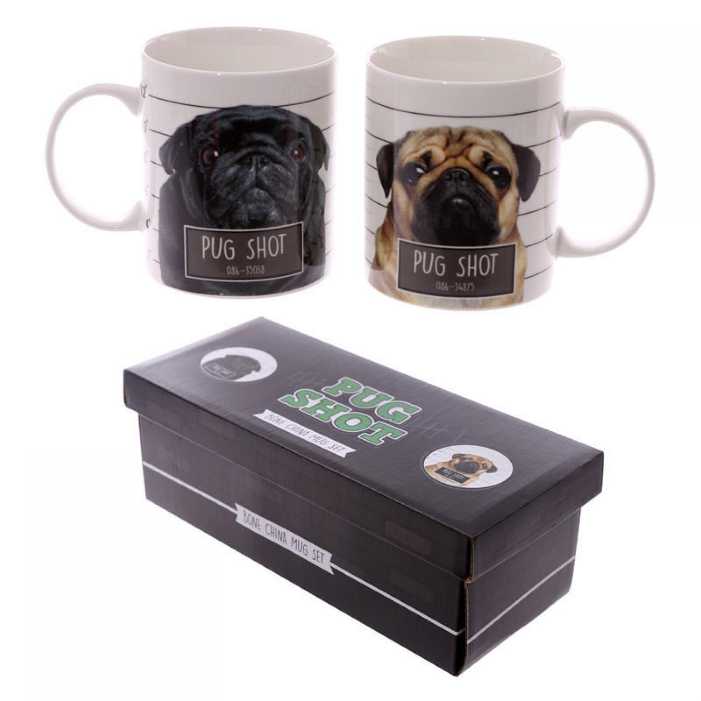 Pug Shot Double Mug Set