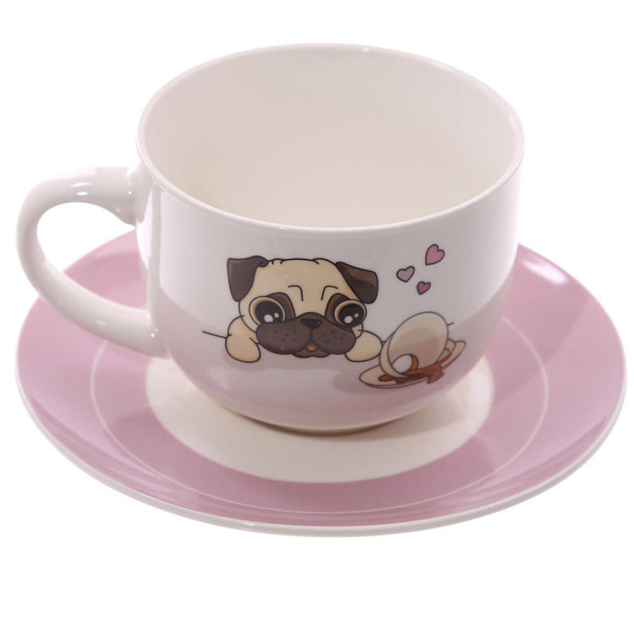 Large Cappucino Cup & Saucer