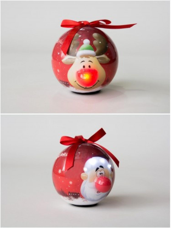 Santa & Reindeer Bauble