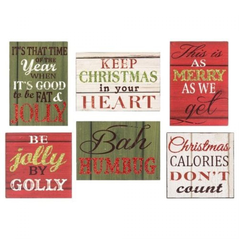 Headlines Tin Christmas Thoughts Magnets