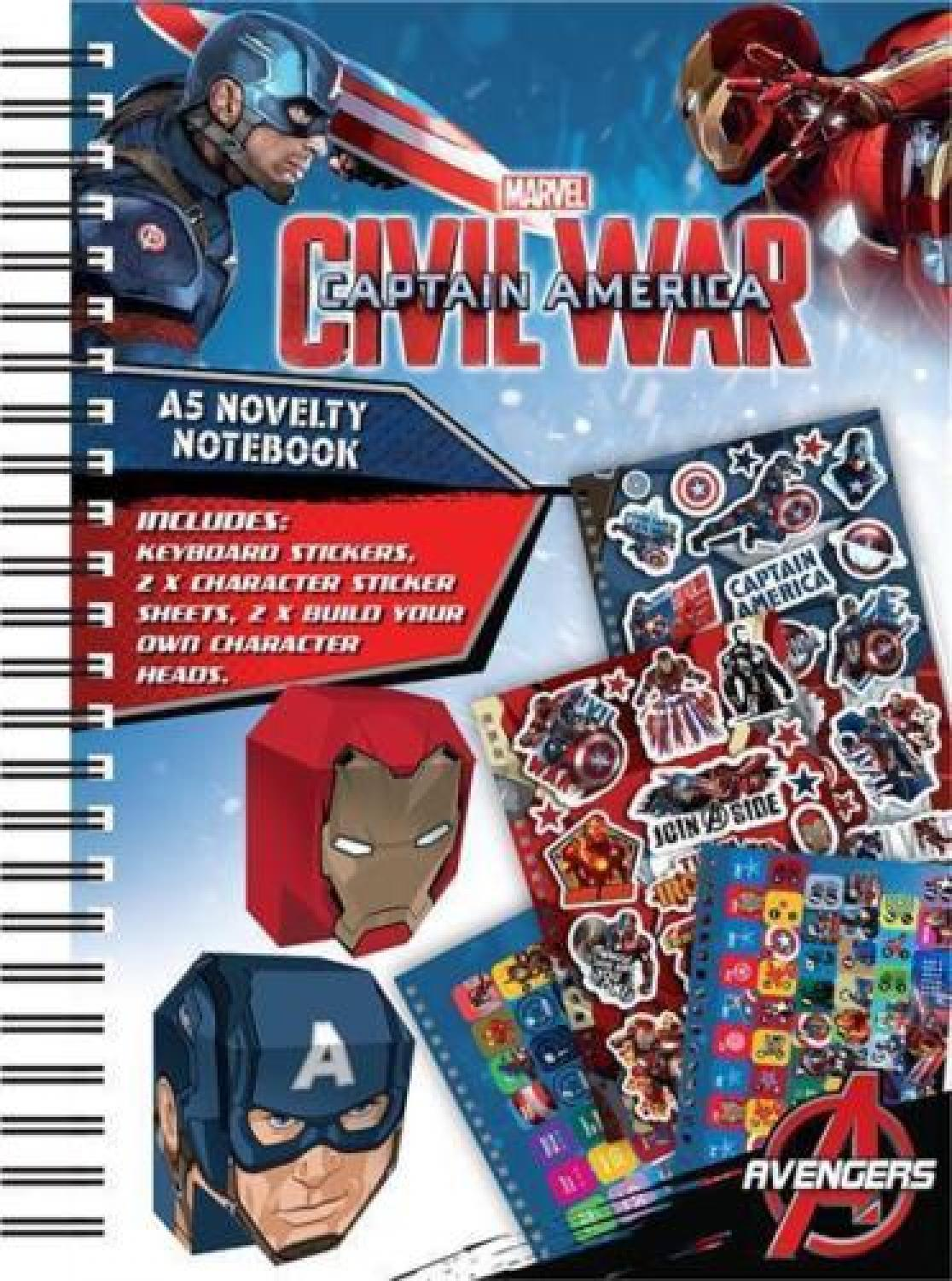 Captain America Civil War A5 Novelty Notebook