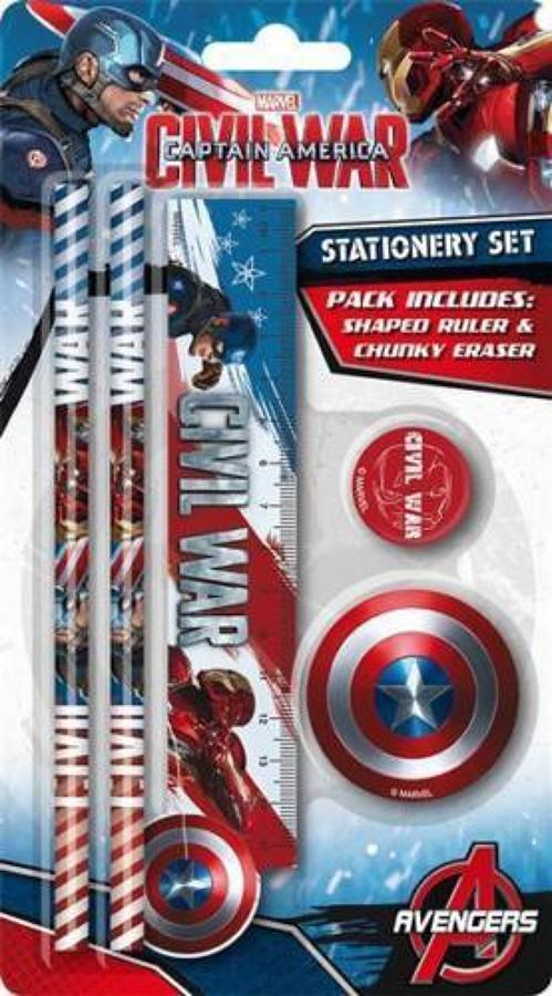 Captain America Civil War Stationery Set