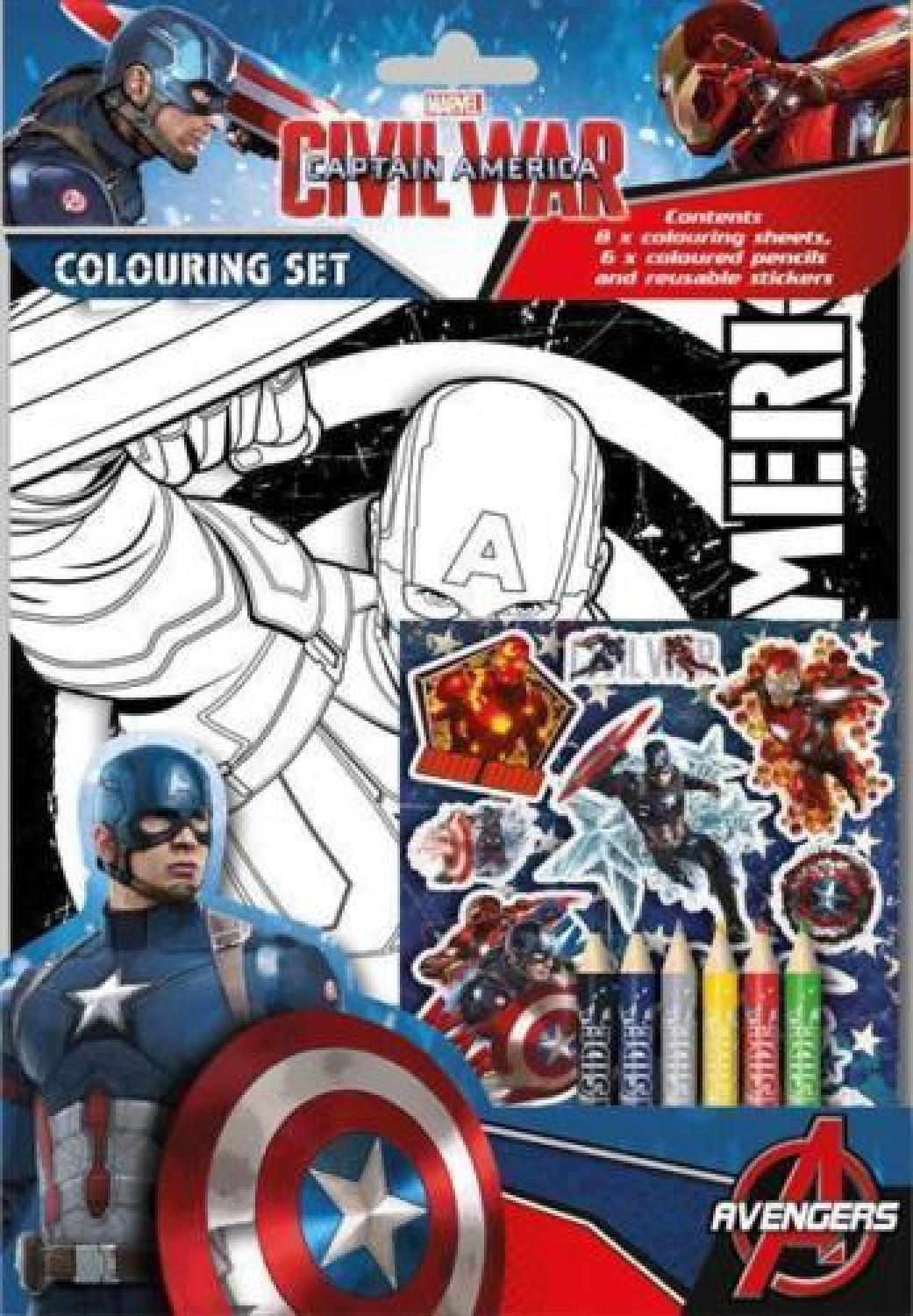 Captain America Civil War Colouring Set