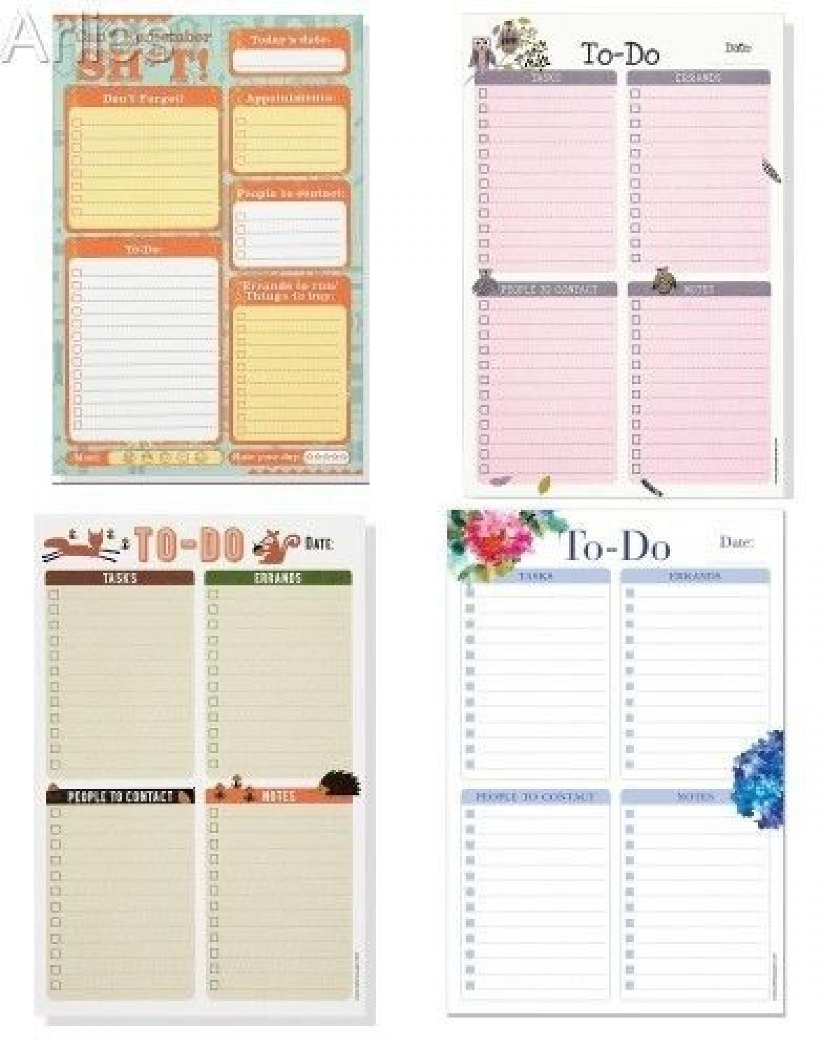 Daily To-Do Notepads