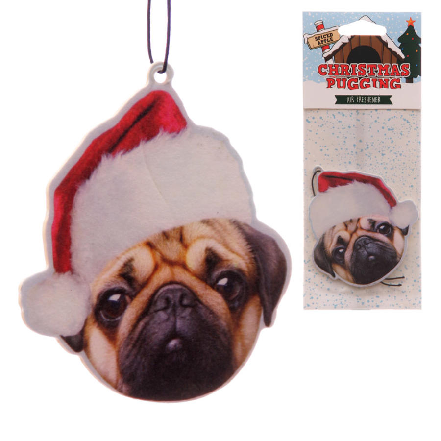 Pug Xmas Air Freshener (Spiced Apple)