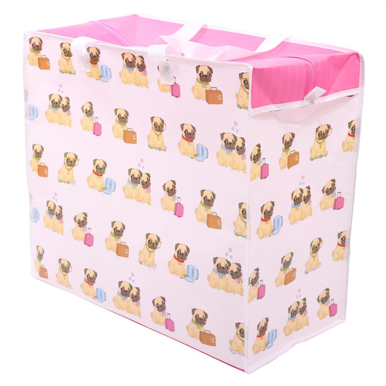 Pug Large Zipped Storage/Laundry/Toy Bag