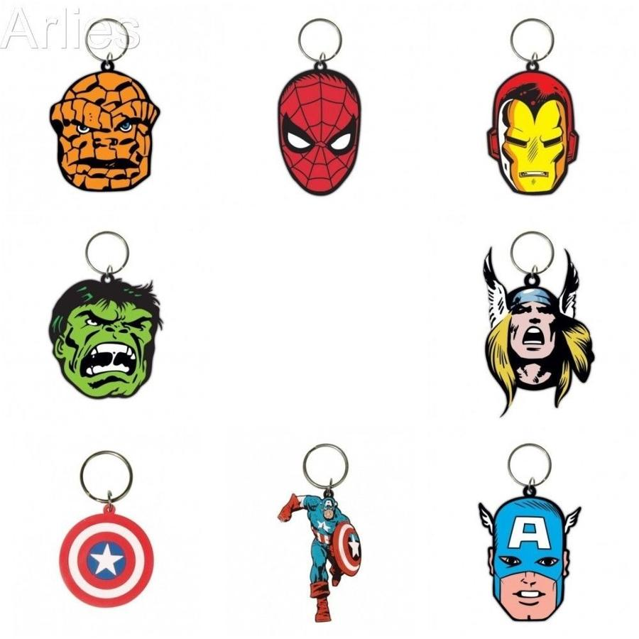 Marvel Character Rubber Keychains
