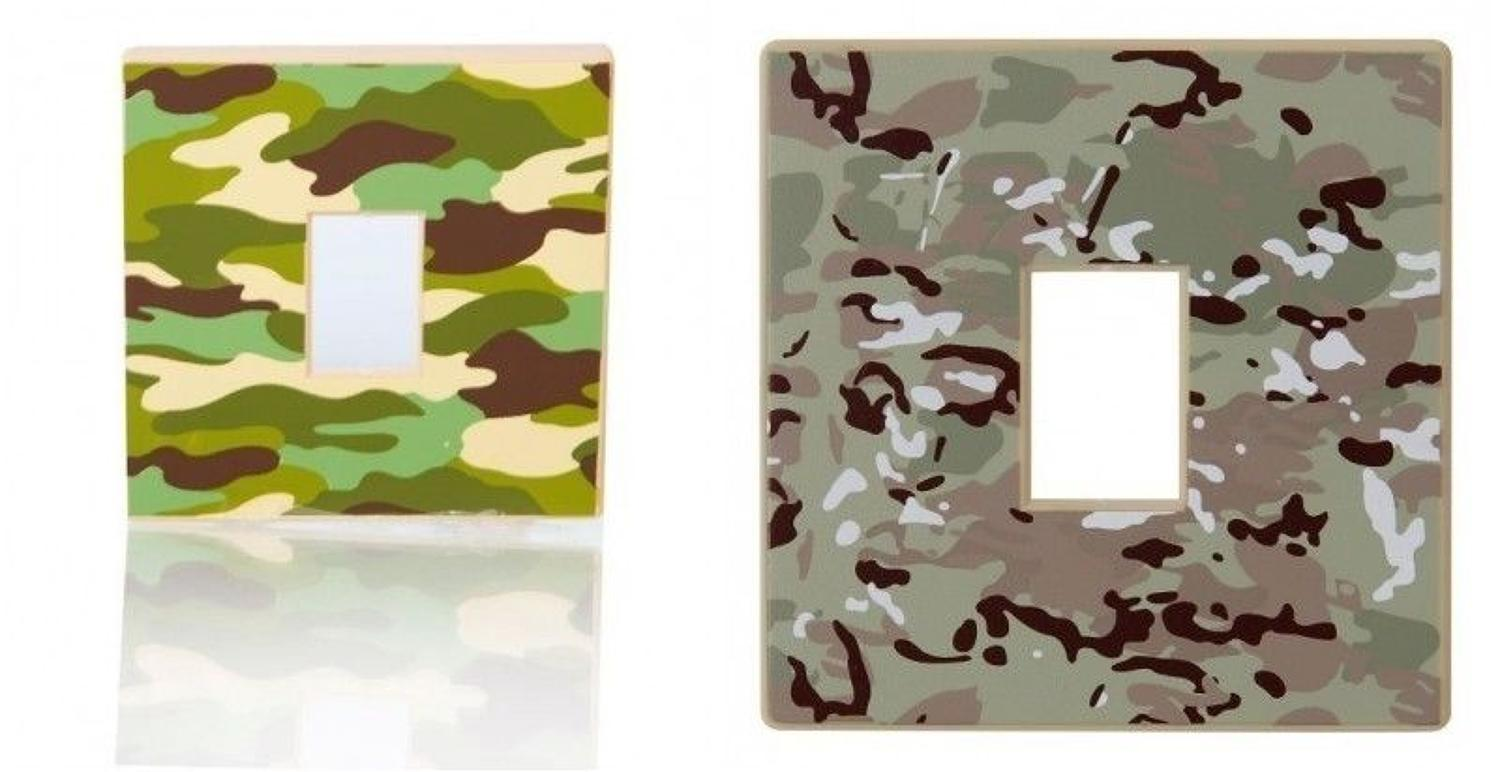 Kids Camouflage Light Switch Cover