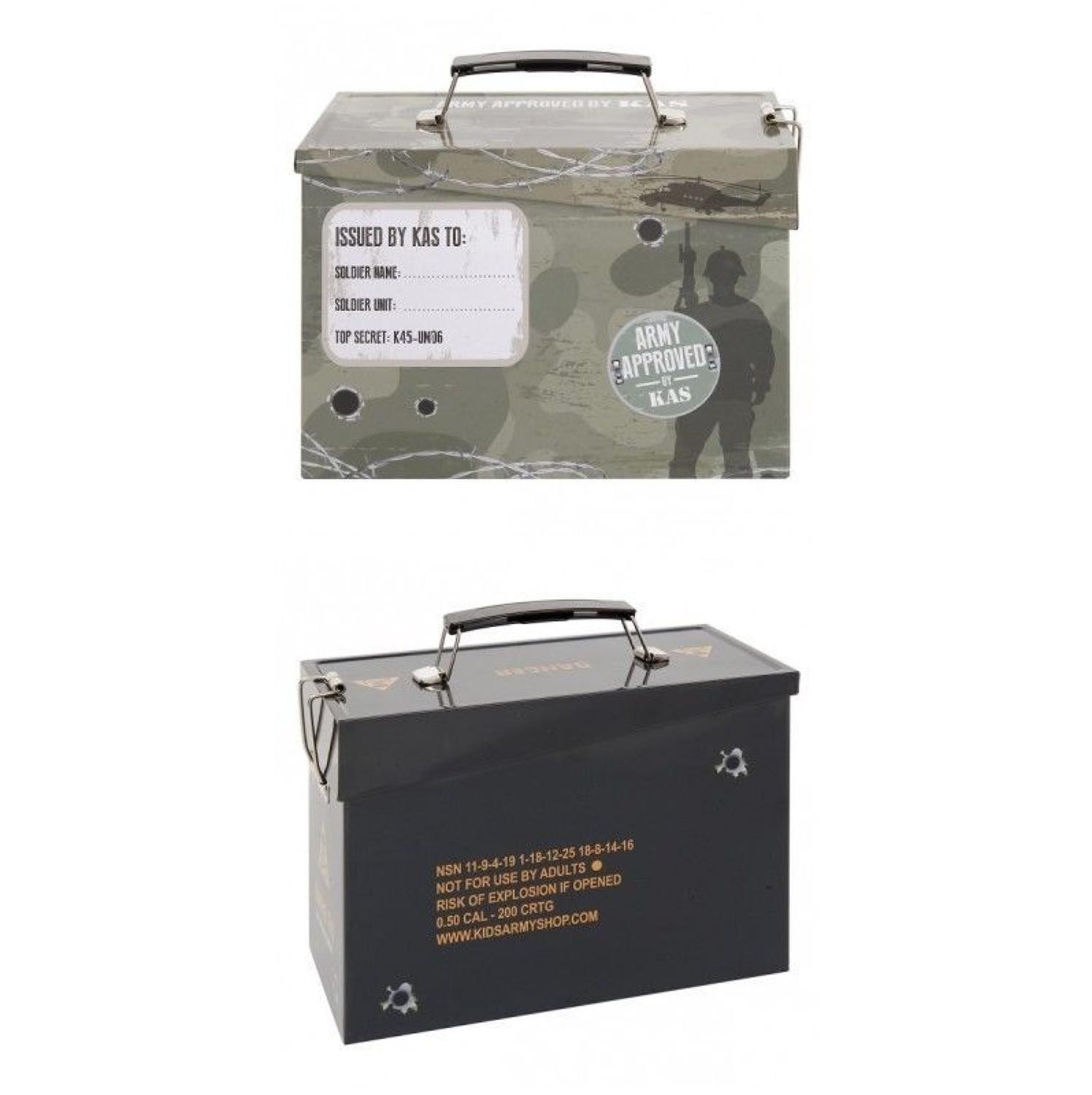 Kids Army Lunch/Box Ammo Tin