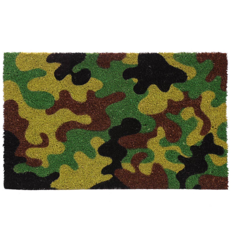 Camouflage Design Coir Door Mat