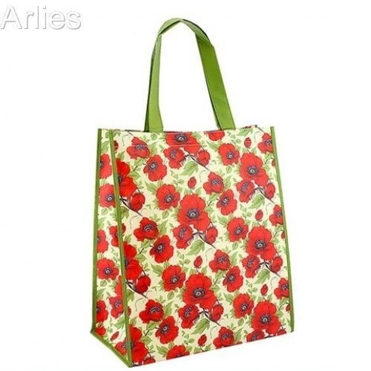 Red Poppy Shopping Bag