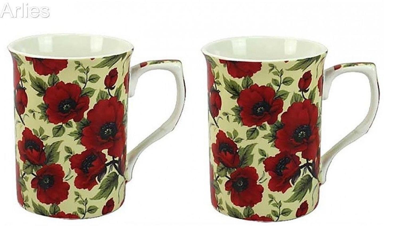 Set of 2 Poppy Mugs