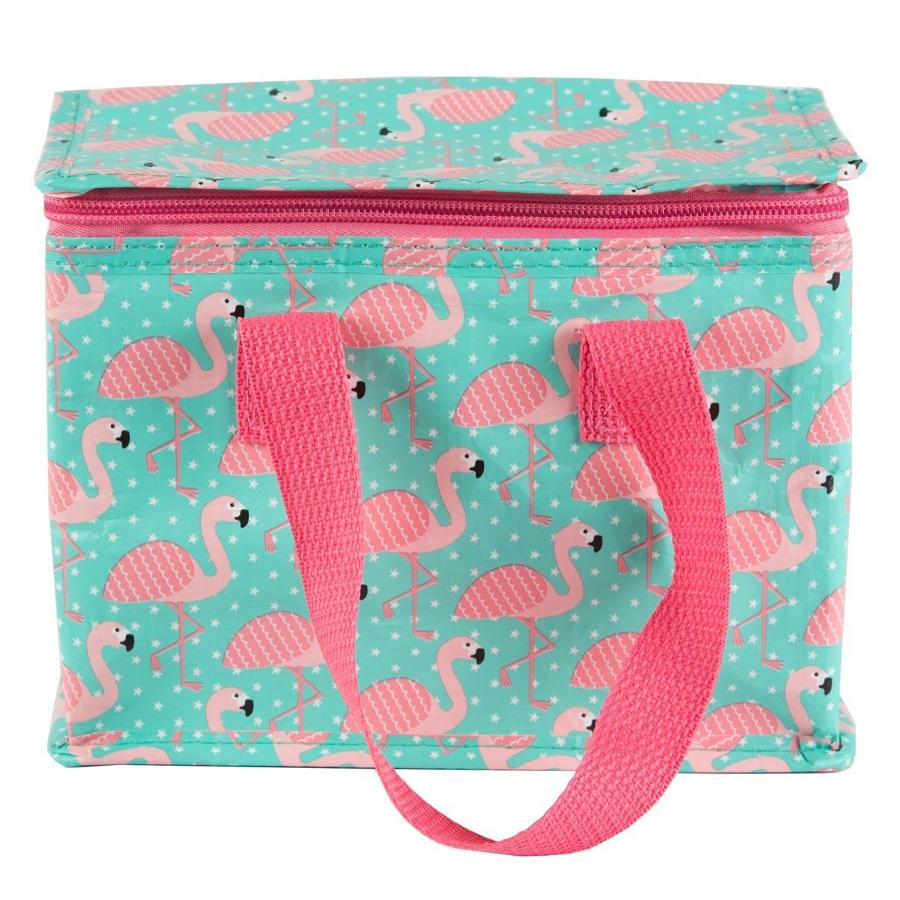 Tropical Flamingo Insulated Lunch Bag