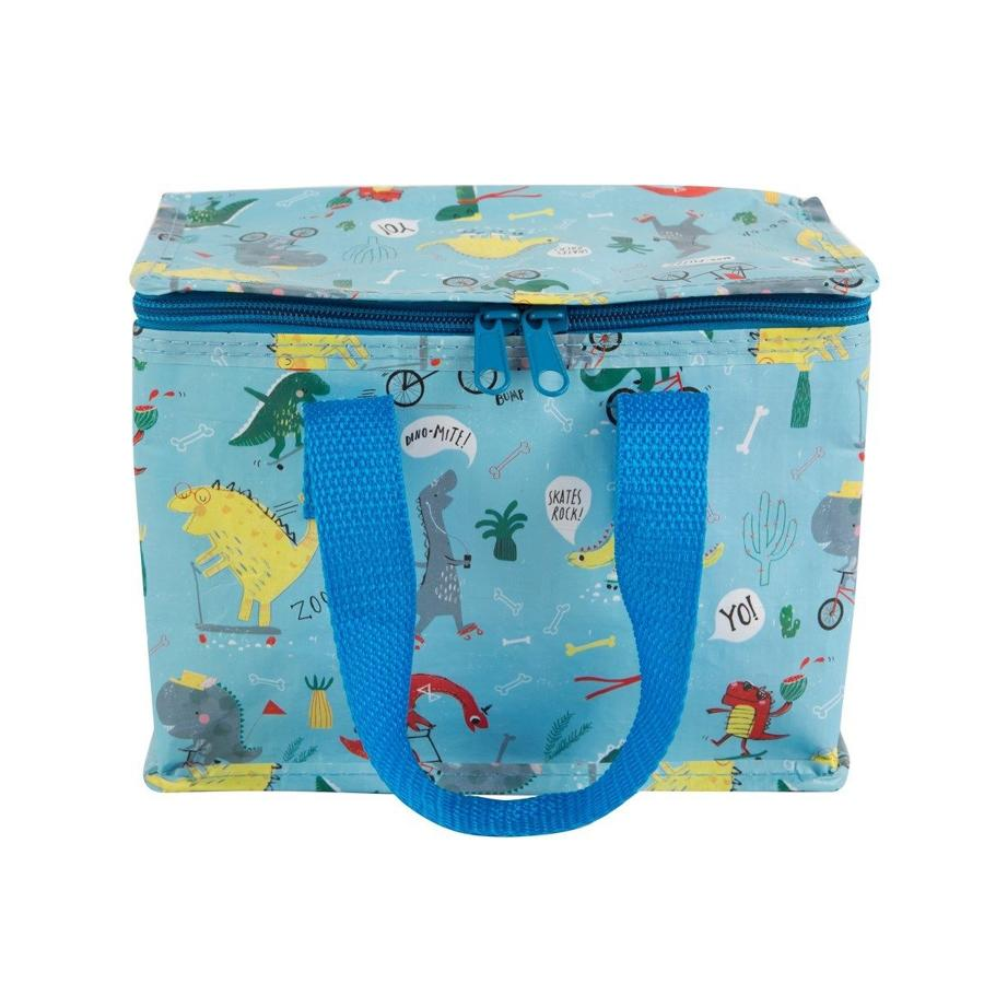 Dino Skate Park Insulated Lunch Bag