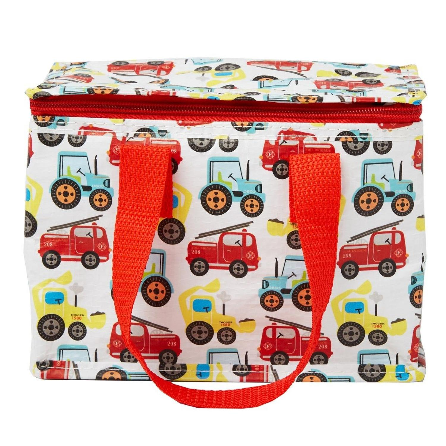 Illustrated Trucks Insulated Lunch Bag